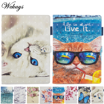 Coque For Apple Ipad Air 2 Ipad 6 Case A1566 A1567 Cartoon Cat Leather Stand Cover For Ipad Air2 Air 2 6th Generation Cover Case