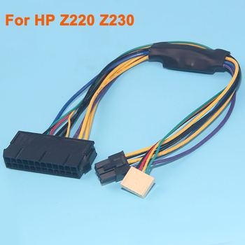 power module breakout board for hp 750w 1200w psu server power conversion 12pcs 6pin to 8pin 18awg power cable for btc ATX 24pin to 2-port 6pin Adapter Cable for HP Z220 Z230 SFF Server Workstation Motherboard PSU Power Supply Converter Cord 30CM