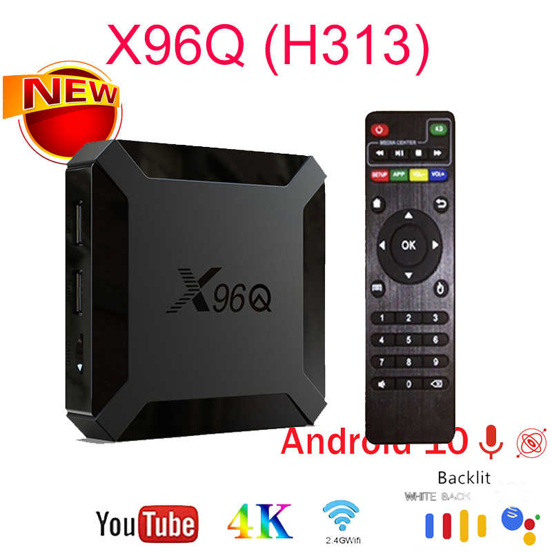 X96Q TV Box 4K 2,4G Android 10,0 2GB 16GB Allwinner H313 Quad Core Wifi Android 10 set-Top-Box Media Player