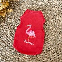 Cat Shirt Vest Summer Flamingo-Pattern Soft