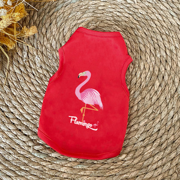 Flamingo Pattern Soft Summer Pet Clothes Dog Vest Shirt Products Cat T-shirt