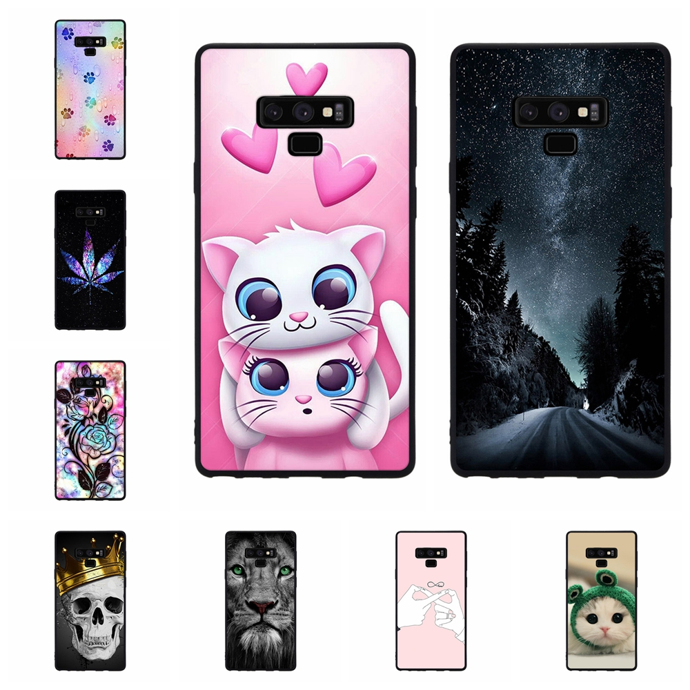For Samsung Galaxy Note 9 Cover Soft TPU SM-N960F Case Dog Patterned Funda