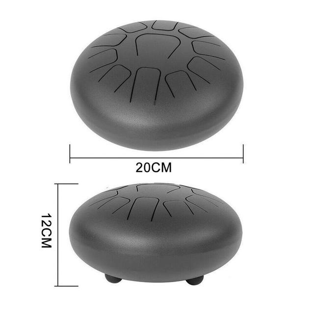 8 Inch Mini Drum 11 Tone Steel Tongue Percussion Drum Handpan Instrument With A Carry Bag Musical Instruments 5