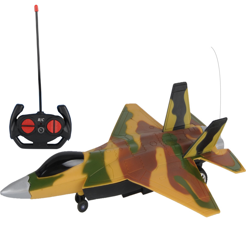 remote control plane camouflage airplane toy light glider rc plane parts outdoor radio-controlled boy toy kids gift Blue yellow