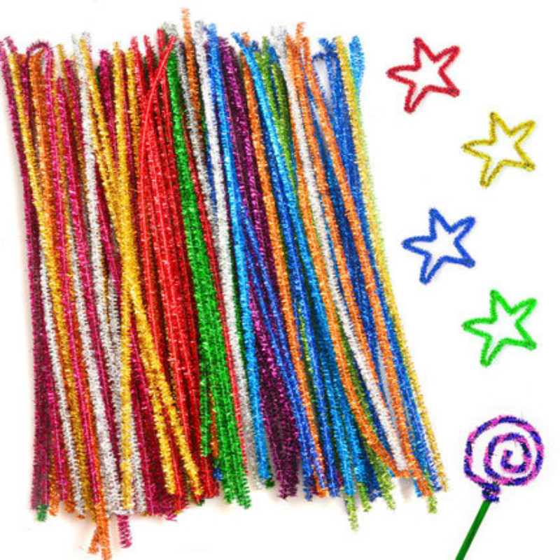 100pcs Diy Plush Stick Toys For Children Arts Manualidades Pompom Bricolage Jouet Kids Montessori Education Toy детские игрушки