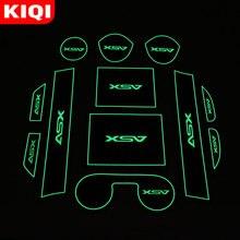 Slot-Pad Accessories Mitsubishi Mats Anti-Slip Car-Door for ASX Rubber-Mat Cup Cushion