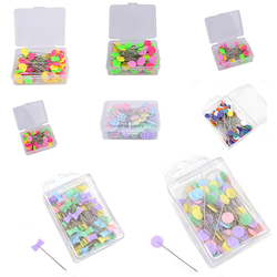6/50/80/100Pcs/Pack Patchwork Needle Craft Flower Button Head Pins Embroidery Pins For DIY Quilting Tool Sewing Accessories