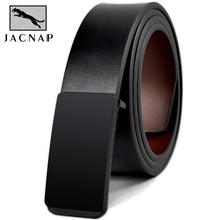 JACNAIP Vintage Leather Belts for Men Genuine Luxury Strap Smooth Buckle Cowboy Casual Design Brand Male Belts Ремни мужские