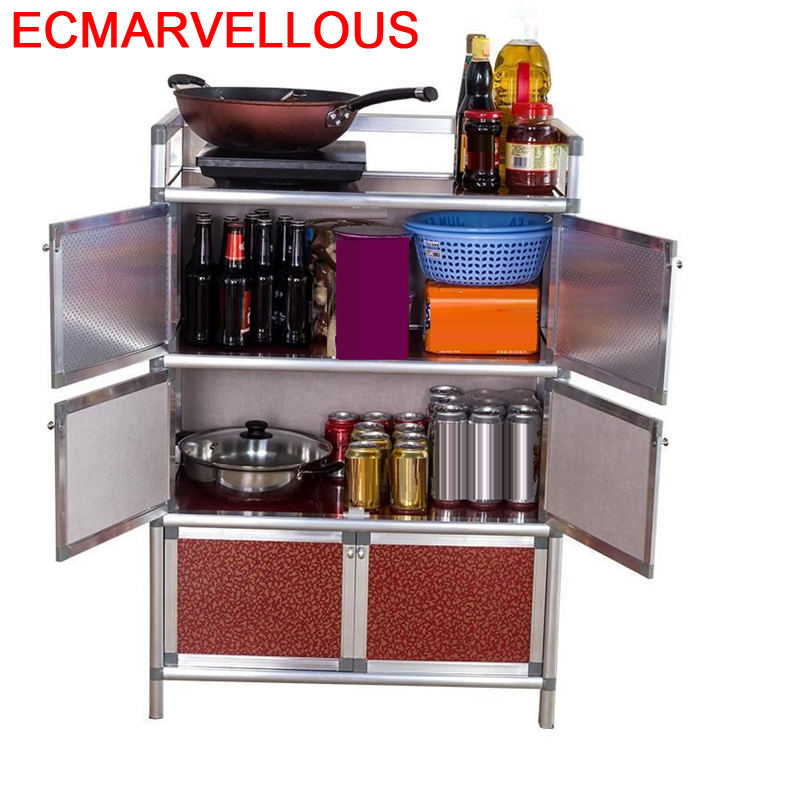 Moveis Sala De Jantar Aparadores Sidebord Aluminum Alloy Side Tables Cupboard Mueble Cocina Cabinet Kitchen Furniture Sideboard