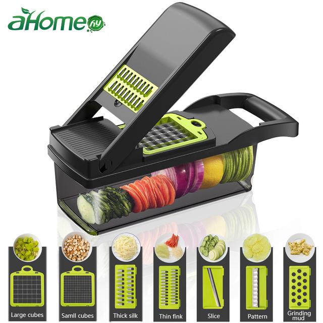 Mandoline Vegetable Fruits Tool Grater Cutter Shredder Garlic Meat Chopper Carrot Potato Slicer Salad Maker Kitchen Gadgets