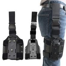 Safa tático plataforma perna gota para glock 17 19 colt 1911 p226 usp pistola coxa coldre pá adaptador caça arma acessórios