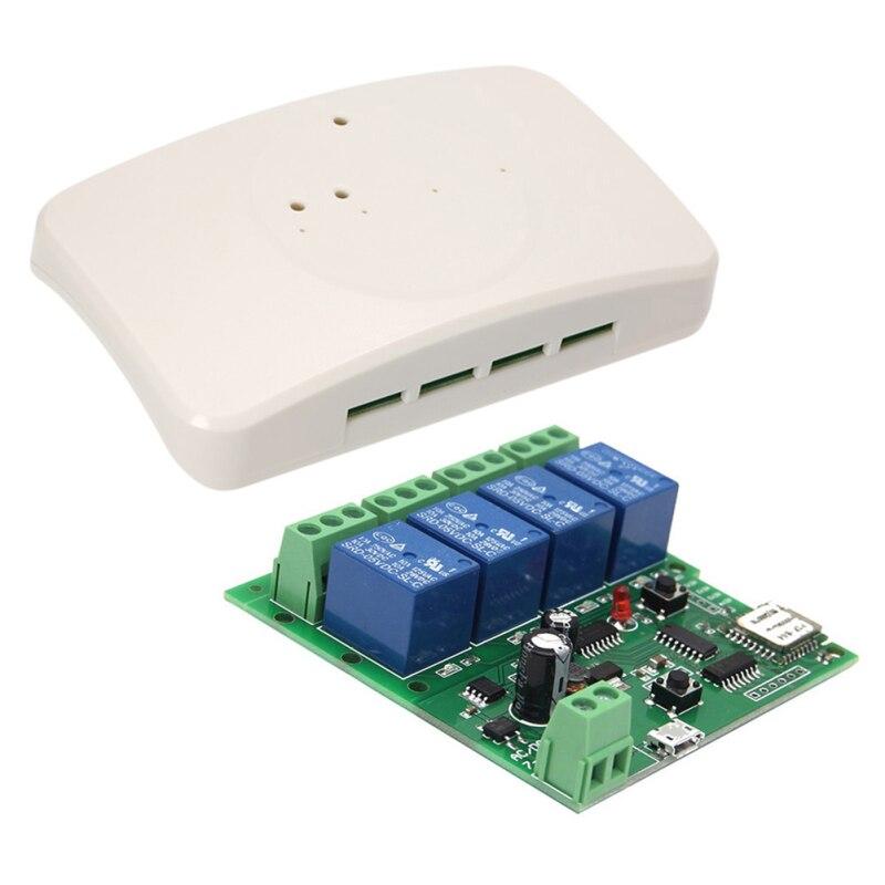 Smart Remote Control Module 4CH 10A Relays WIFI Wireless Universal Switch Work With  Alexa Google Home EWeLink APP Domotica