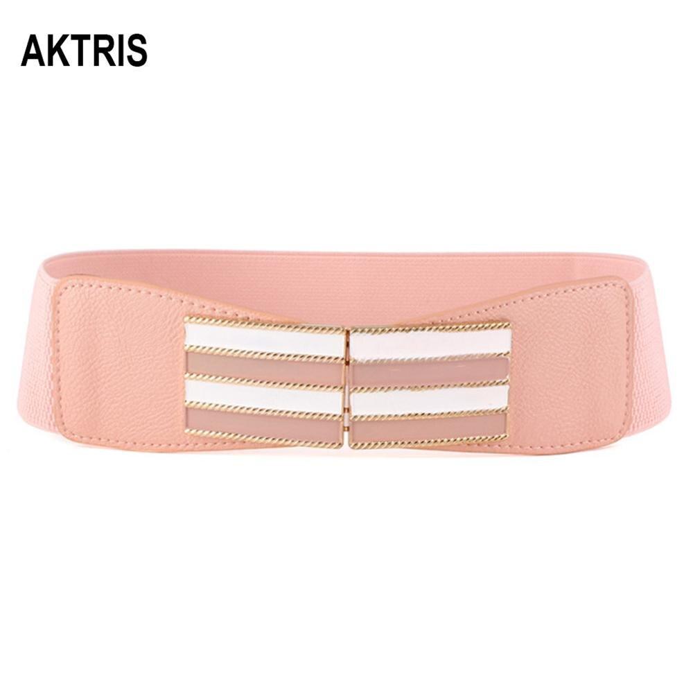 AKTRIS Ladies Fashion Waistband Belts Overcoat Decorative Women's Elastic  Leather Belt Cummerbunds For Women Accessories FCO215