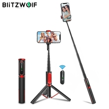 BlitzWolf BW-BS10 Portable bluetooth Selfie Stick with Tripod Extendable Foldable Monopod for iPhone 11 X for Huawei for Xiaomi