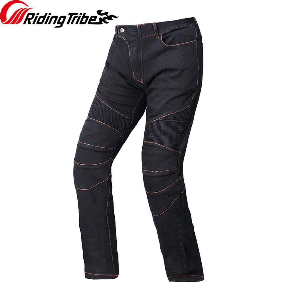 Equitazione Tribù Degli Uomini Del Motociclo di Jeans Biker Protezioni Motocross Moto da Corsa Traspirante Pantaloni Pantaloni Dritti Hp-11