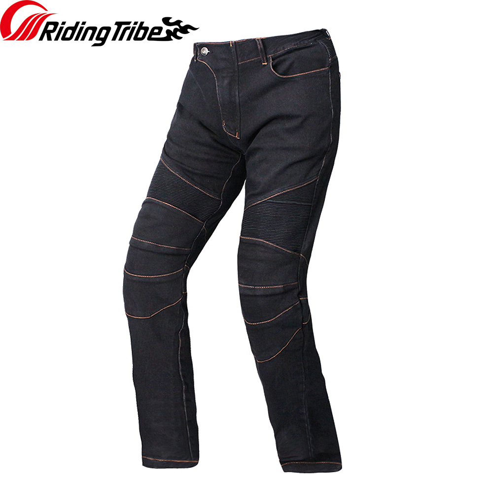 Image 4 - Riding Tribe Motorcycle Men's Biker Jeans Protective Gear Motocross Motorbike Racing Breathable Pants Straight Trousers HP 11-in Trousers from Automobiles & Motorcycles