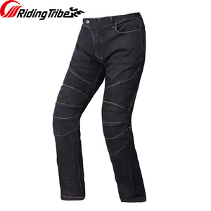 Image 4 - Riding Tribe Motorcycle Mens Biker Jeans Protective Gear Motocross Motorbike Racing Breathable Pants Straight Trousers HP 11
