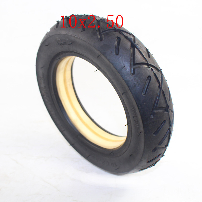 10 inch 10x2.50 solid tire tubeless for Folding Electric Scooter Pocket Bike
