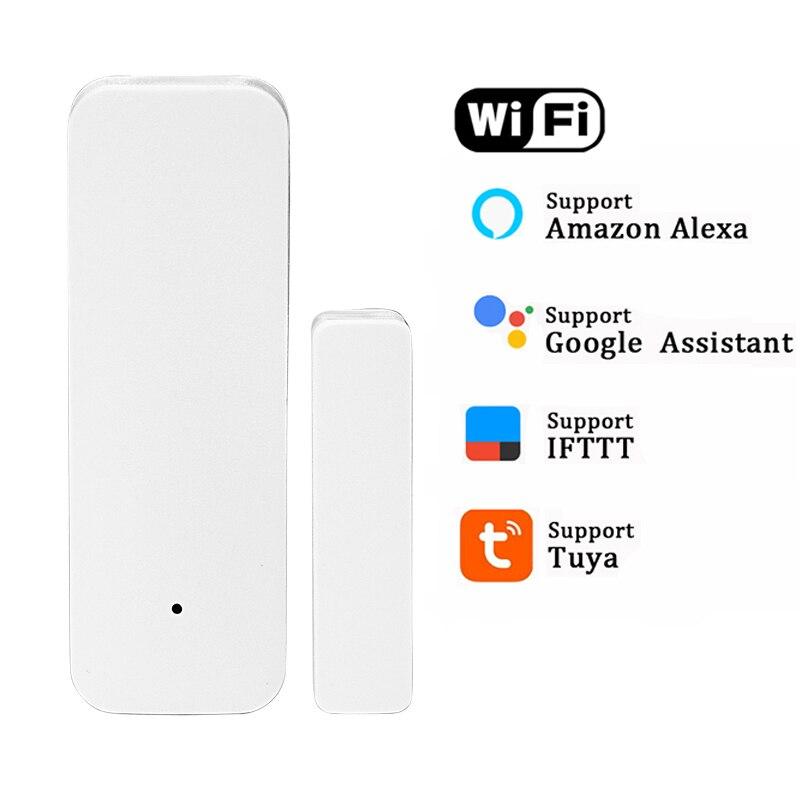Smart Tuya WiFi датчик для двери открытые/Закрытые детекторы WiFi приложение уведомления оповещения охранной сигнализации Поддержка Alexa Google Home