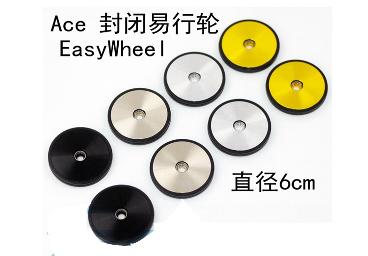 Stable Bike Bicycle Wheels Easywheel For Brompton Bearing Wheel Lightweight 43g Aluminum alloy AL7075 Wheel Extension Bar Part
