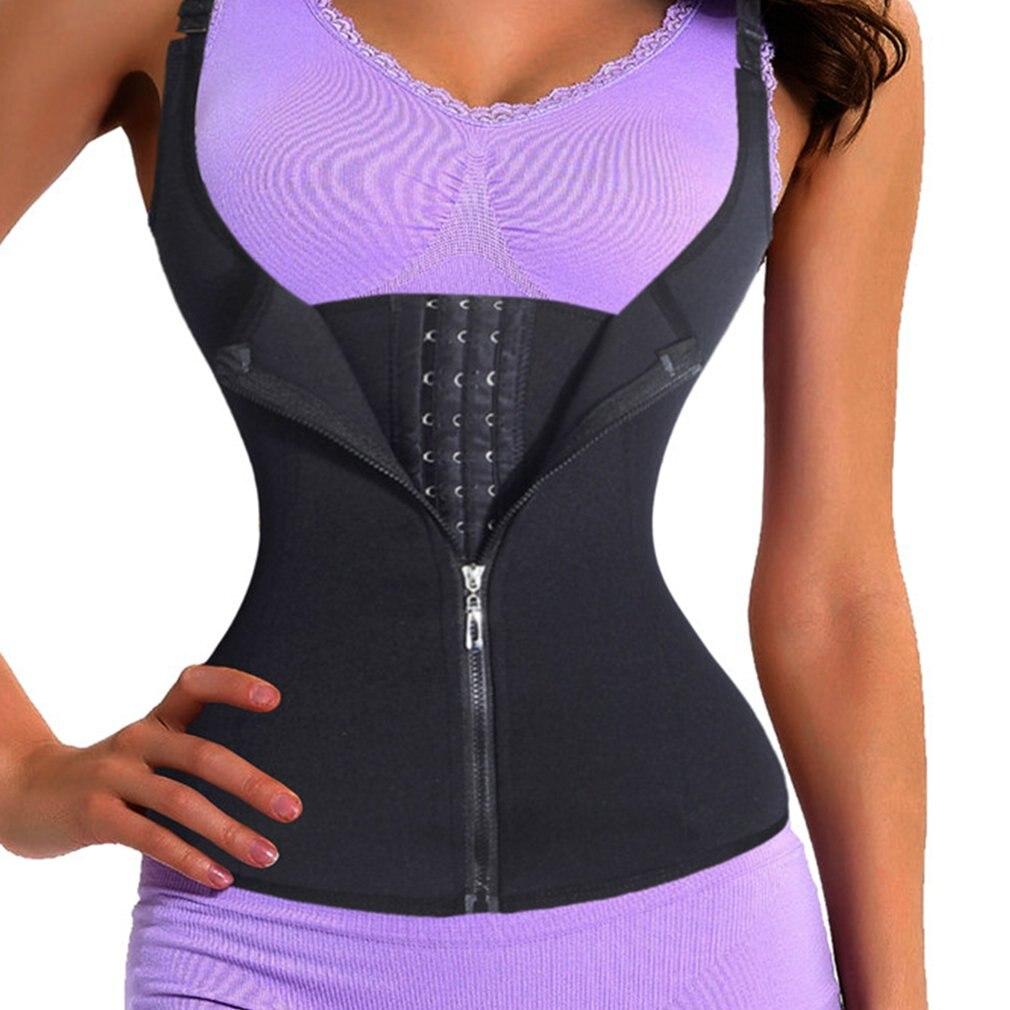 Adjustable Strap Waist Trainer Vest Corset Women Zipper Hook Body Shaper Waist Cincher Tummy Control Slimming Shapewear
