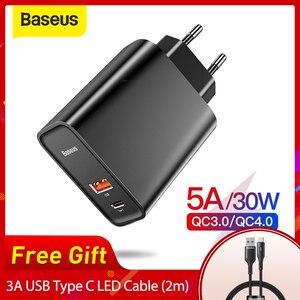 Image 1 - Зарядное устройство Baseus Quick Charge 4,0 3,0 USB для Redmi Note 7 Pro 30W PD Supercharge быстрое зарядное устройство для телефона для huawei P30 iPhone 11 Pro