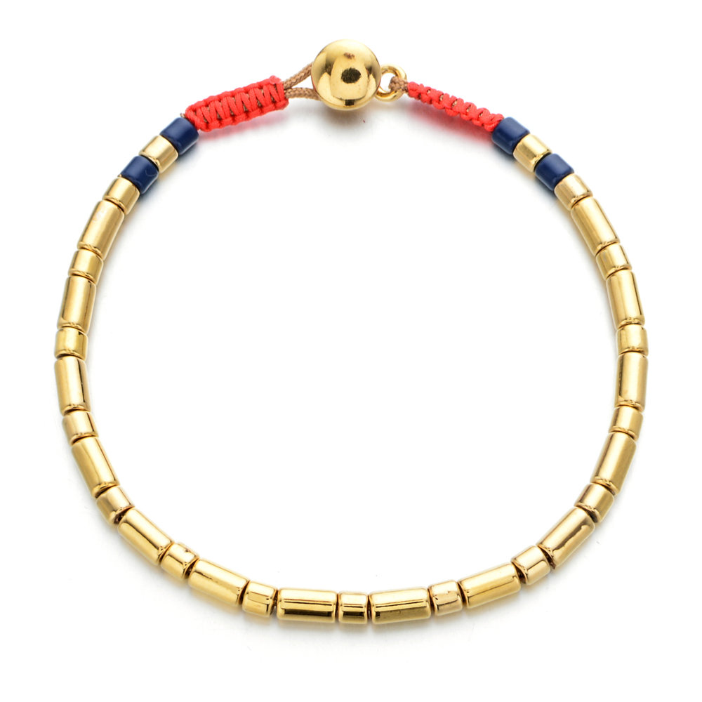 ZMZY Boho Style Enamel Stretch Bracelets For Women Rainbow Bracelet Gold Beads Stackable Stretch Bracelet Men Jewelry