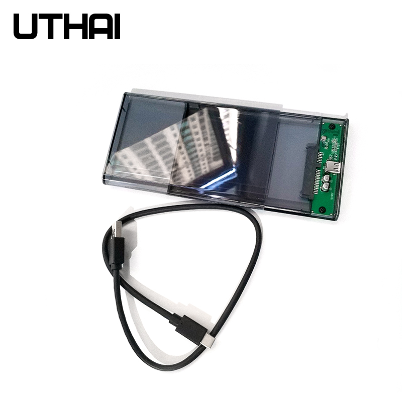 """UTHAI G25 USB3.0/Type-C HDD Enclosure of 2.5"""" Hard Disk Case SSD SATA3 to USB 3.0/2.0 Box USB C HDD Case Gen2 6GBp/s SSD 3"""