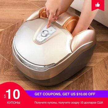 MARESE Máquina de masajeador de pies eléctrico con masaje de vibración profunda Calentamiento amasado por rodadura La compresión de aire se adapta a la talla Euro 48