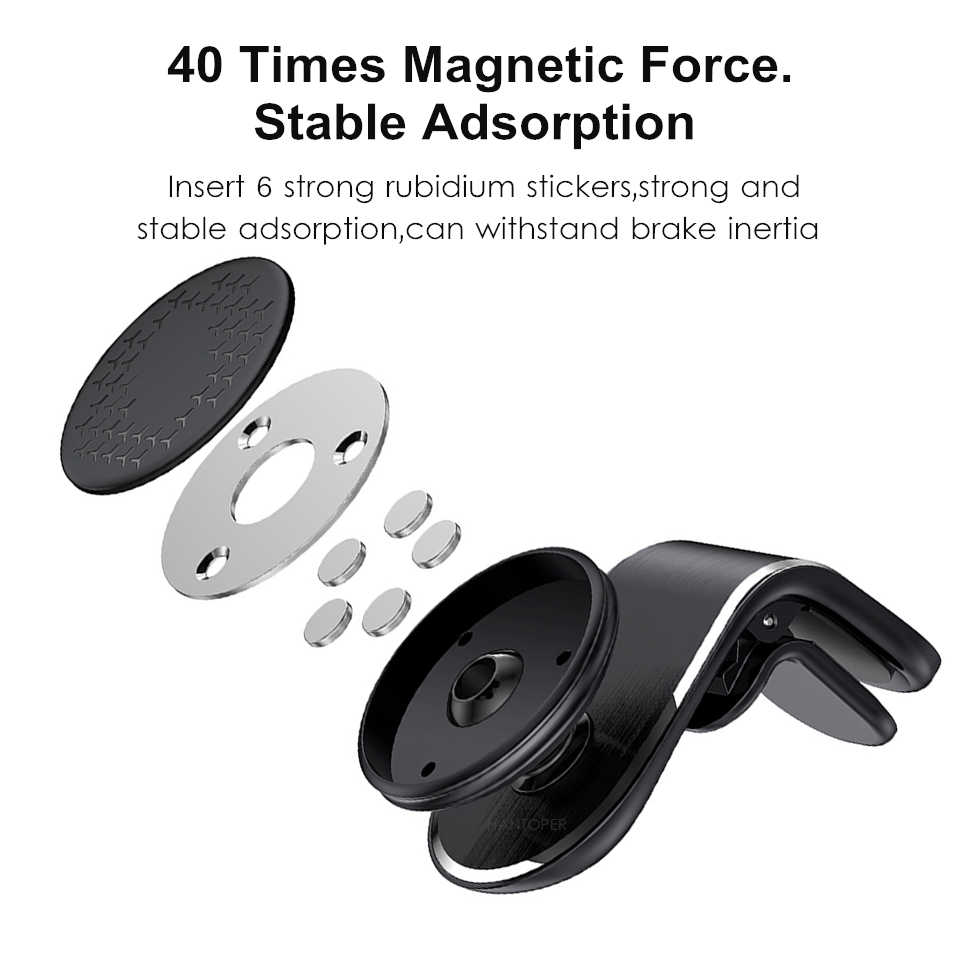 Universal Magneticรถผู้ถือโทรศัพท์แม่เหล็กผู้ถือStandสำหรับโทรศัพท์สมาร์ทโฟนสำหรับสำหรับiPhone X XS Samsung