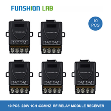 цена на FUNSHION 433 MHz Universal AC 220V 1CH 30A Wireless RF Relay Receiver Module Water Pump Motor Power On Off Remote Control Switch
