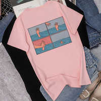 2019 Summer New Fashion Women's Funny Four-frame Comics Printing Round Neck Short-sleeved Shirt Harajuku Loose Women's T Shirt