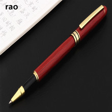 Pen Rollerball Stationery-Supplies Wood Business 521 Office School Red Student High-Quality
