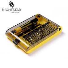 45 in 1 Chrom Vanadium Präzision Schraubendreher Tool Kit Magnetische Schraubendreher-satz für Telefon Tablet Compact Reparatur Wartung Werkzeug
