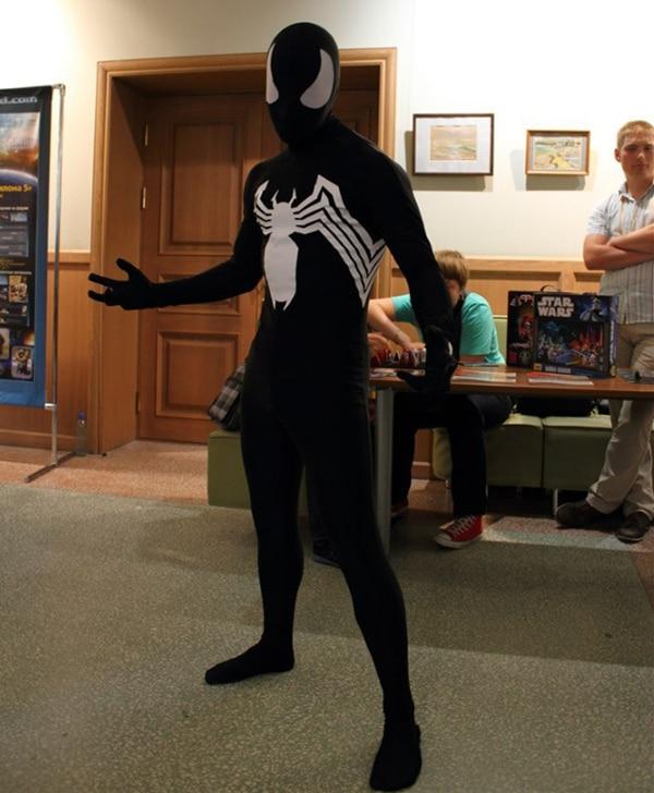 Venom Unisex Kids Adult Black Spiderman Halloween Zentai Cosplay Costume Spider Man Spandex Lycra Zentai Bodysuit Jumpsuits