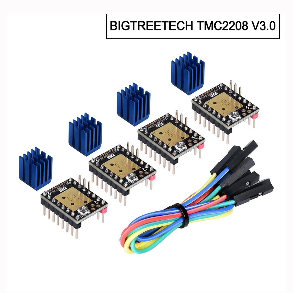 Controlador de Motor paso a paso BIGTREETECH TMC2208 V3.0 piezas de impresora UART 3D TMC2130 TMC2209 TMC5160 para SKR V1.3 V1.4 MKS GEN Ramps 1,4