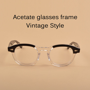 Image 5 - ג וני דפ משקפיים אופטי משקפיים מסגרת גברים נשים אצטט משקפיים מסגרת רטרו מותג עם לוגו למעלה איכות 313