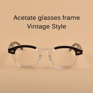 Image 5 - Johnny Depp lunettes optique lunettes cadre hommes femmes acétate lunettes cadre rétro marque avec Logo qualité supérieure 313