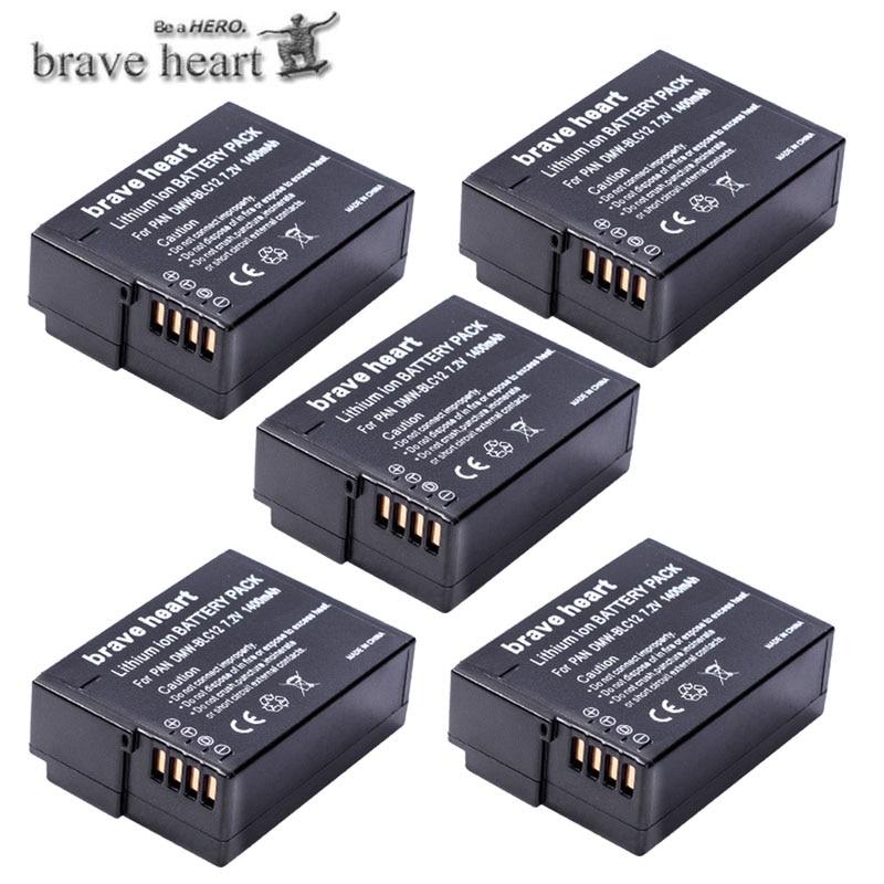 paquete de 2 DMW-BLC12 Batería para Panasonic Lumix DMC-FZ200 FZ1000 DMC-G5 G6 GH2