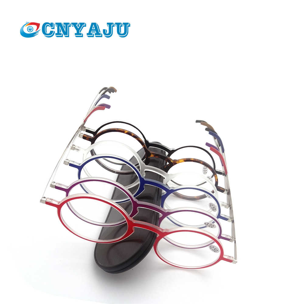 Montura delgada CNYAJU, monturas rectangulares Tr90, gafas de lectura + gafas para presbicia plegables de Funda magnética de aluminio + 1 1,5 2 2,5 3 3,5