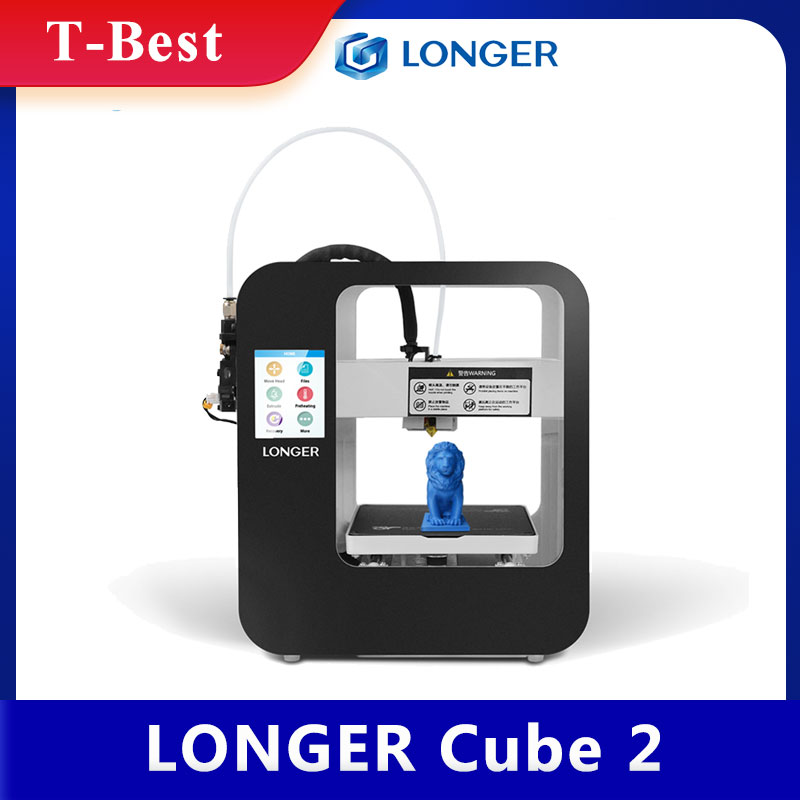 Мини настольный 3D-принтер LONGER Cube 2, полностью собранный с 3,5-дюймовым сенсорным ЖК-экраном 2,8*120*140 мм, съемная насадка, возобновление печати