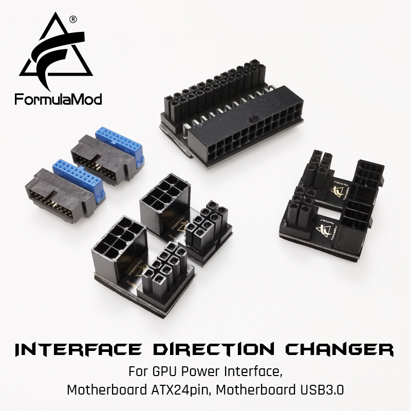FormulaMod Fm-PCI/ATX/USB, Interface Direction Changer, Converter, For GPU Power Interface/Motherboard ATX24pin USB3.0