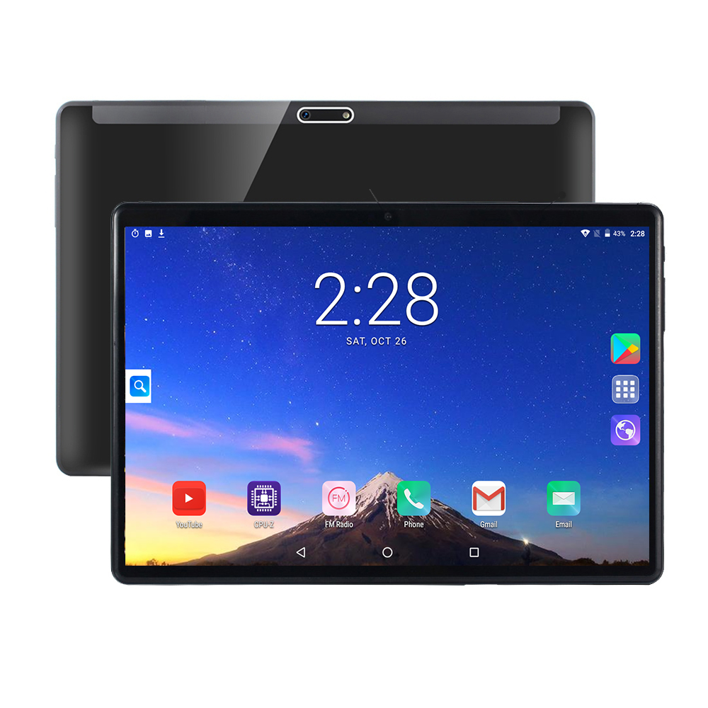 Tablets With Google Play Android 9.0 Tablet 10 Inch Dual SIM Call WiFi GPS RAM 6G ROM 128GB 64GB IPS 2.5D Glass Screen Tablet PC