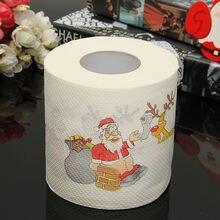 Рождественские украшения, Санта Клаус Рождество олень туалетная бумага печать для стола новогодние украшения подарки, сувениры