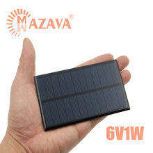 1Pcs 6V 1W Solar Cell Mini Solar System DIY For Battery Solar Panel 110mm*60mm Polycrystalline Silicon