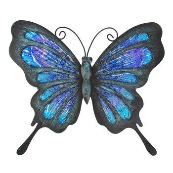 Arte de pared de mariposa de Metal para decoración de jardín estatuas...