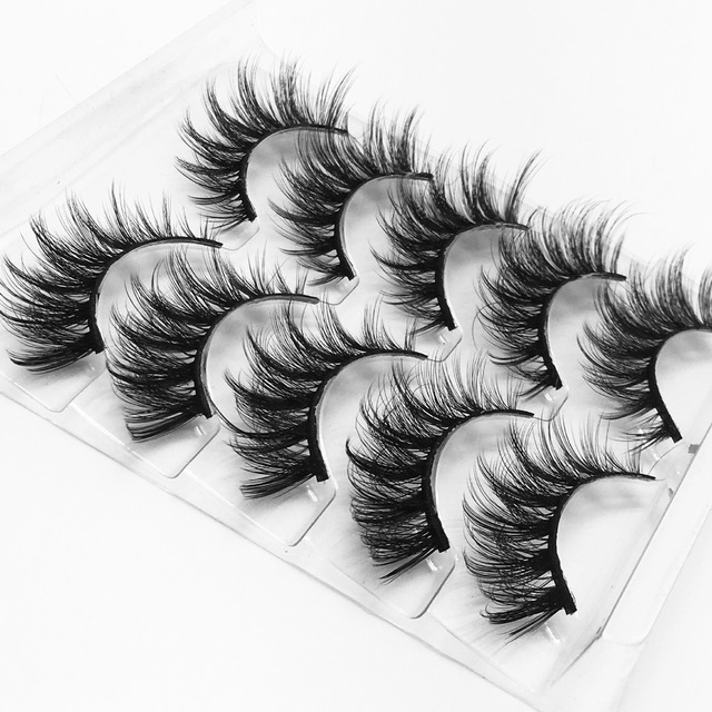 High quality 5 pairs 3d mink eyelashes wholesale fluffy eyelashes mink eyelash natural false eyelashes extensions 1