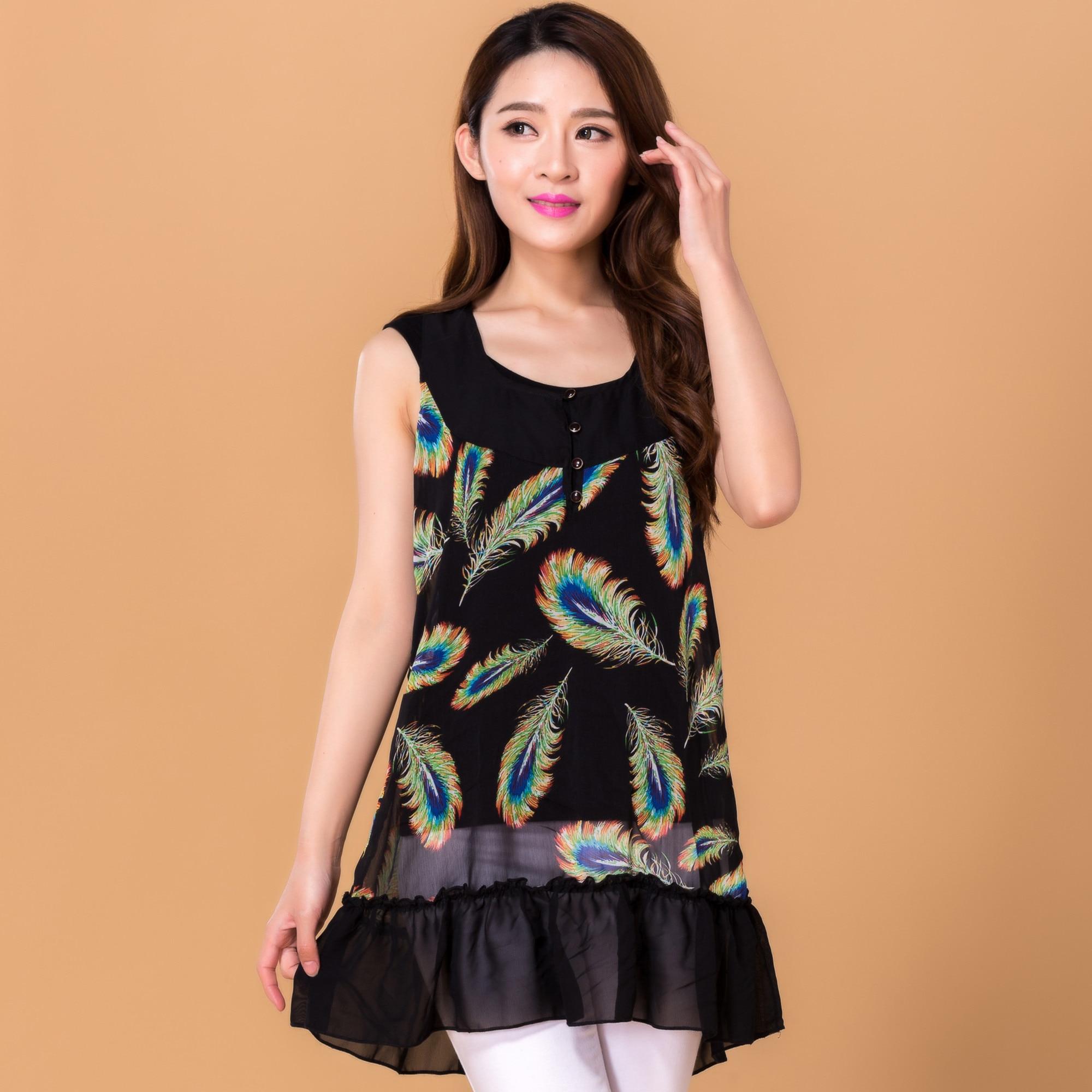 TC Fashion Girl Women Casual Chiffon Vest Shirt Summer Tops Black Ladies Blouses Clothes Femininas Camisas Clothing Female