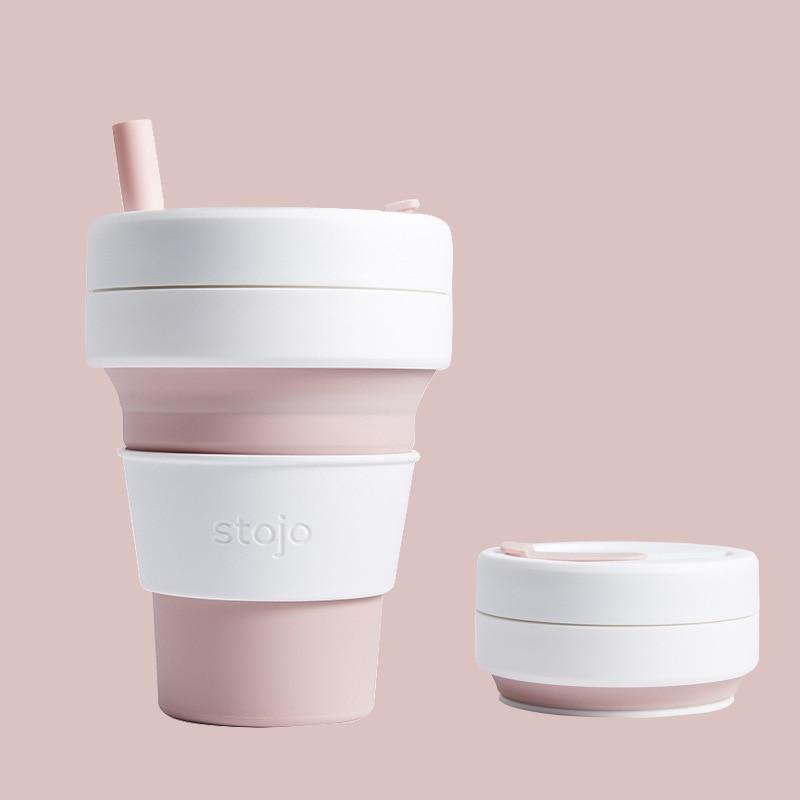 Stojo Tragbare Reise Begleitet Tasse Klapp Flasche Que Flasche Teleskop Tasse Kaffee Tasse Umwelt Freundliche hu wai bei