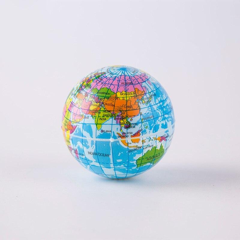 1PCS 10cm PU Globe Earth Sponge Foam Full Printed World Map Ball School Children Teaching Supplies Palm Ball Planet